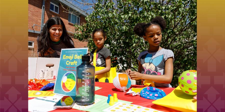 Children Completing Crafts